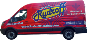Rudroff Heating & Air Conditioning has Furnace repair trucks ready for your home in Peculiar MO